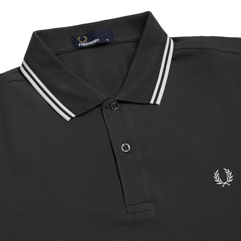 Женское поло Fred Perry Twin Tipped (Black)