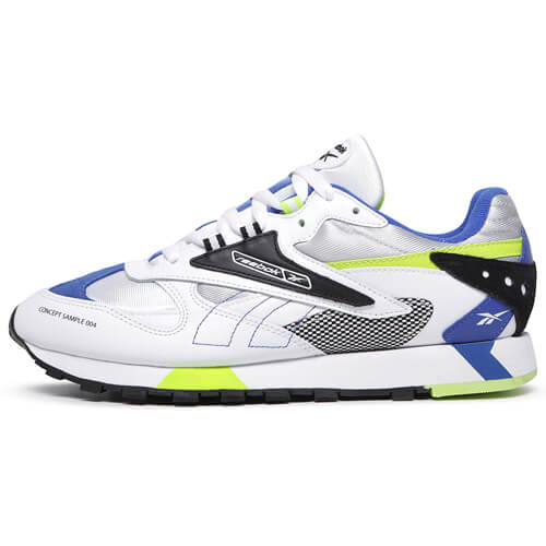 Мужские кроссовки Reebok Classic Leather ATI 90S  (White - Black - Neon)