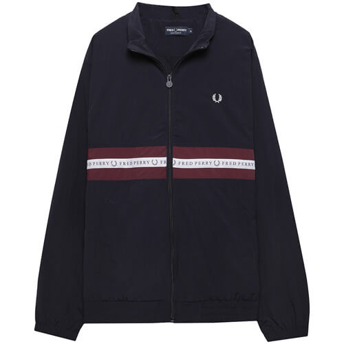 Мужская куртка Fred Perry Sports Tape Shell (Navy)