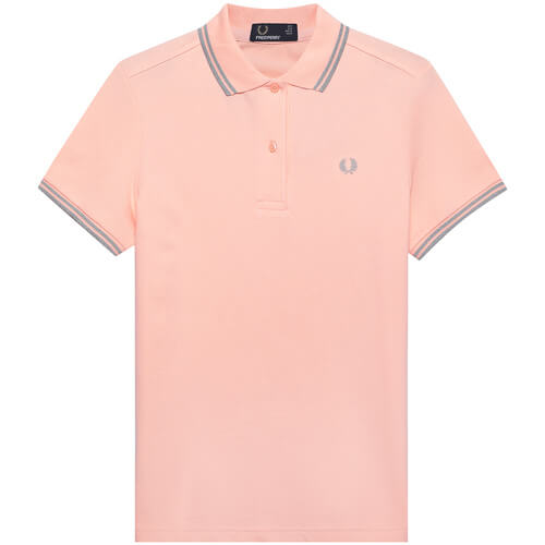Женское поло Fred Perry Twin Tipped (Iced Coral)