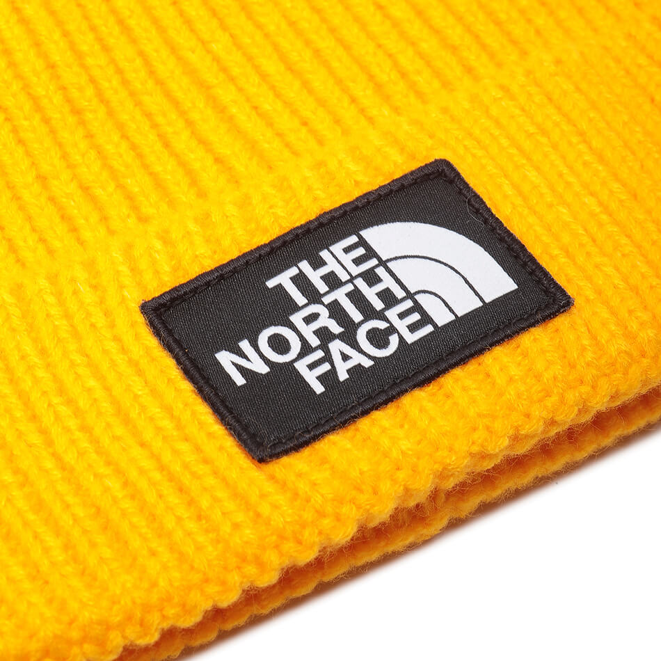 Шапка The North Face Logo Box Pom (Yellow)