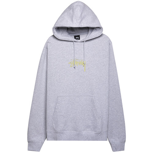 Мужская толстовка Stussy Stock Logo App. Hood (Ash Heather)