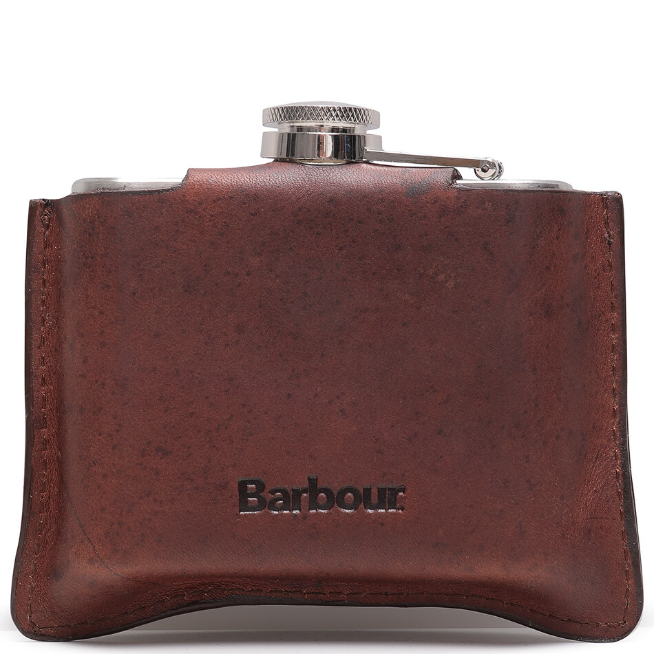 Фляга Barbour 4oz Hinged Hipflask (Brown)