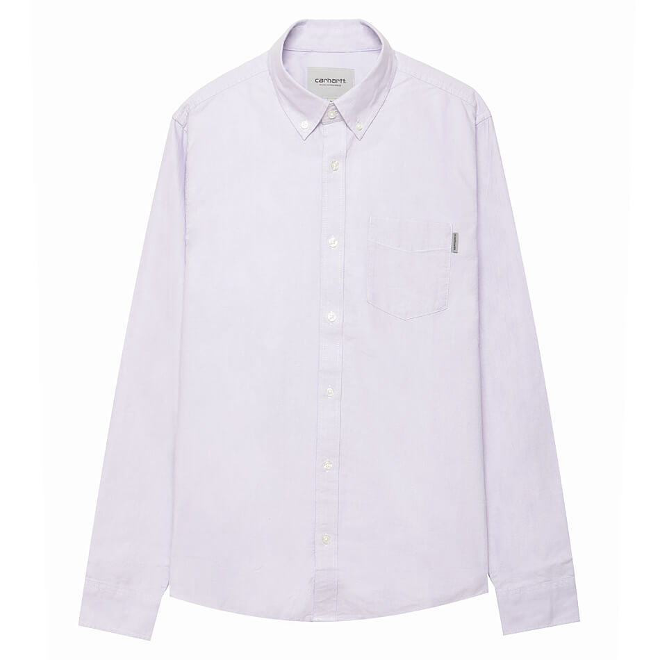 d55fc98ff3d0 Мужская рубашка Carhartt Button Down Pocket (Soft Lavender) | Frihet