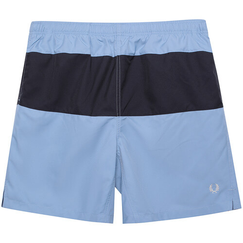 Мужские шорты Fred Perry Taped Panelled Swim (Sky)