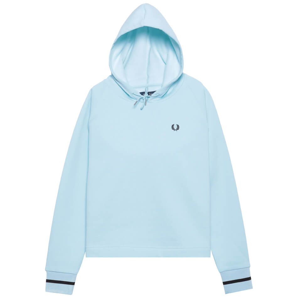 Женская толстовка Fred Perry Branded Hooded (Iced Blue)