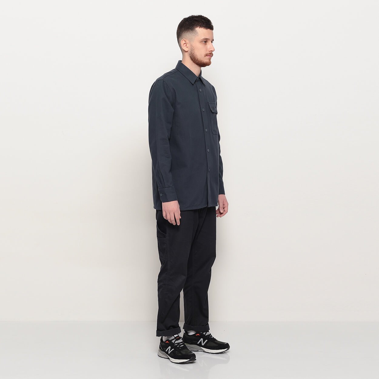 Мужская рубашка Fred Perry Twill Utility (Dark Airforce)