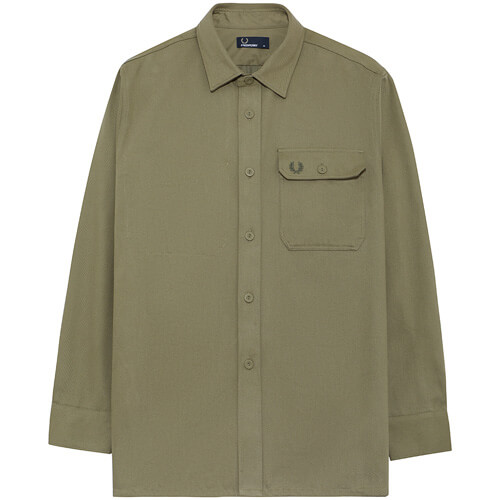 Мужская рубашка Fred Perry Twill Utility (Olive)