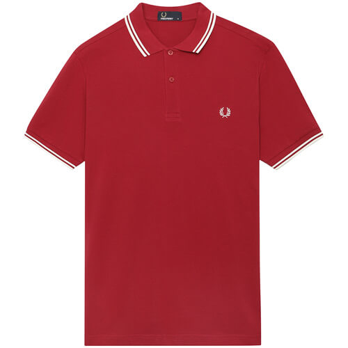 Мужское поло Fred Perry Twin Tipped (Claret)