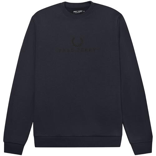 Мужская толстовка Fred Perry Embroidered (Washed Navy)