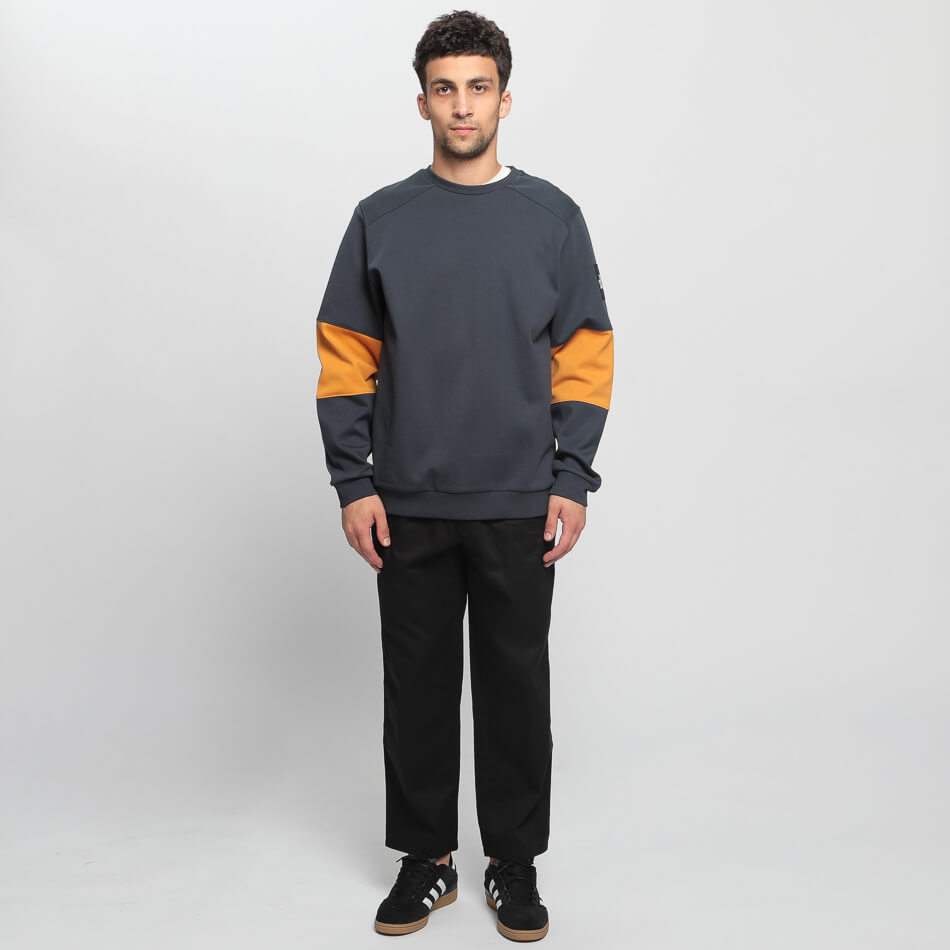 Мужская толстовка The North Face Fine Crew (Navy - Yellow)