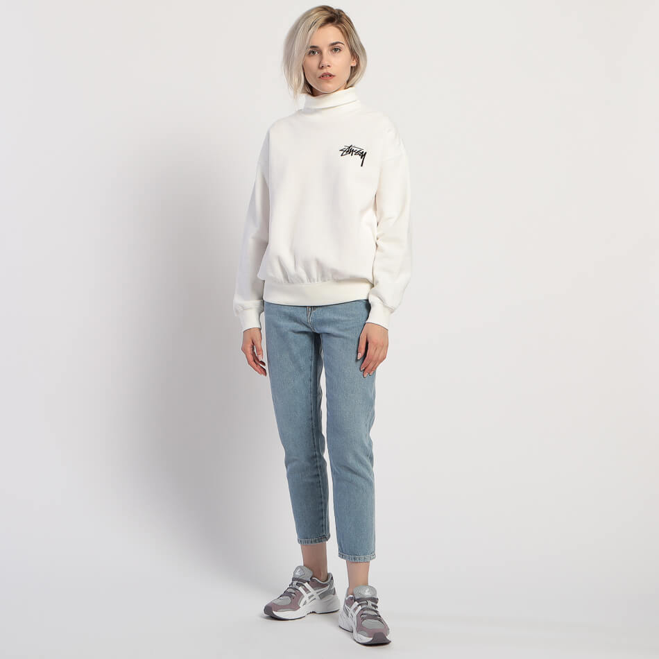 Женская толстовка Stussy Weller Turtleneck Fleece Crew (Off White)