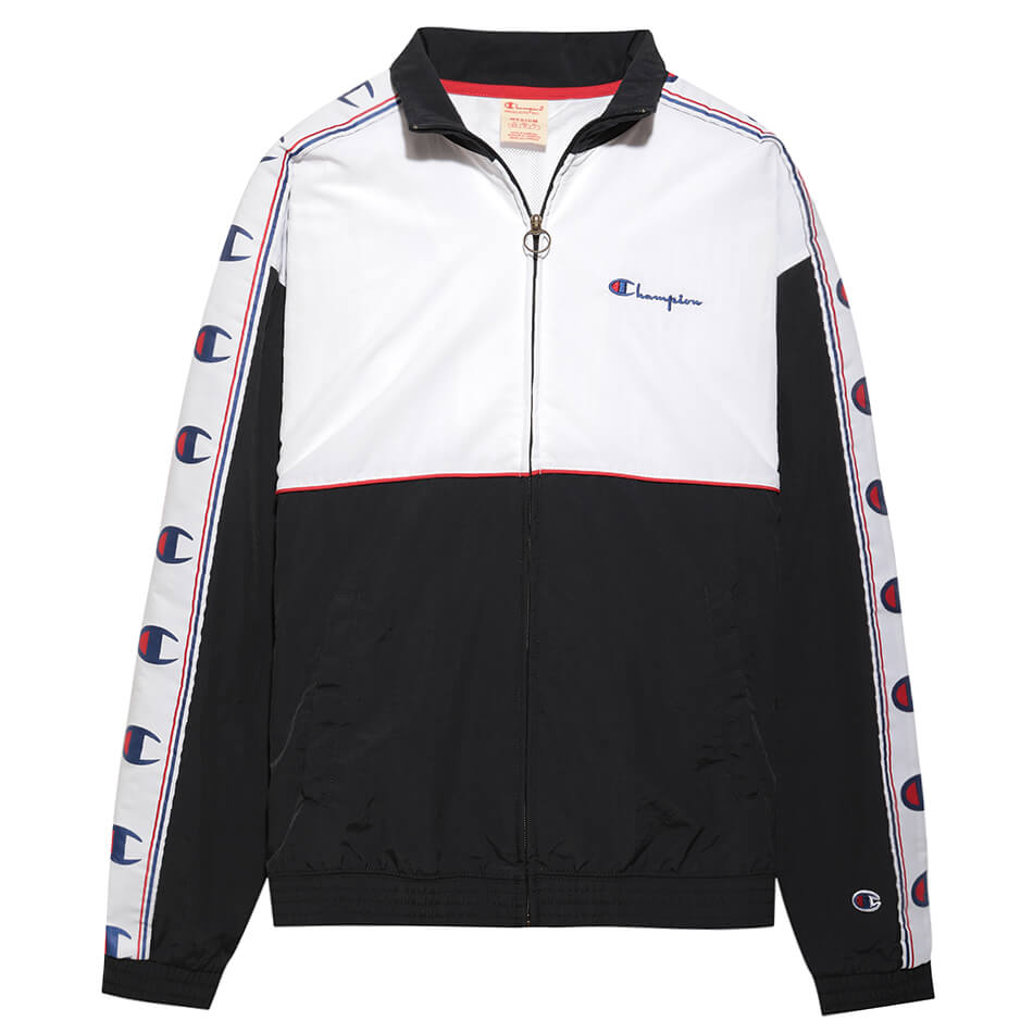 Мужская олимпийка Champion Reverse Weave Peached Feel Crinckle Water Repellent Full Zip (Navy)