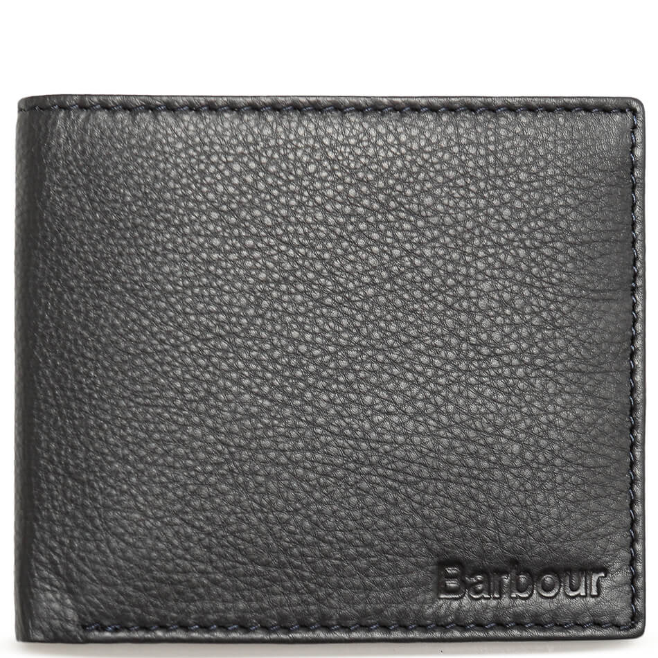 Кошелек Barbour Leather Billfold (Navy)