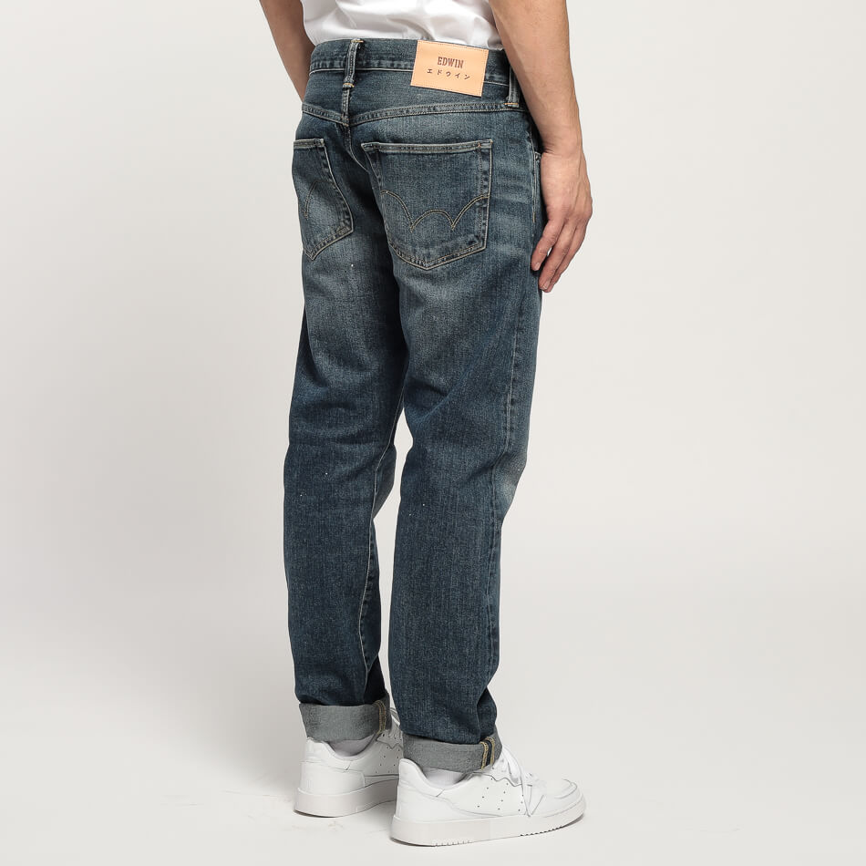 Мужские джинсы Edwin ED-55 Regular Tapered (Blue Naoki Wash)