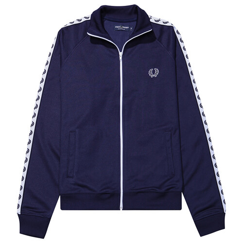 Мужская олимпийка Fred Perry Taped Track (Carbon Blue)