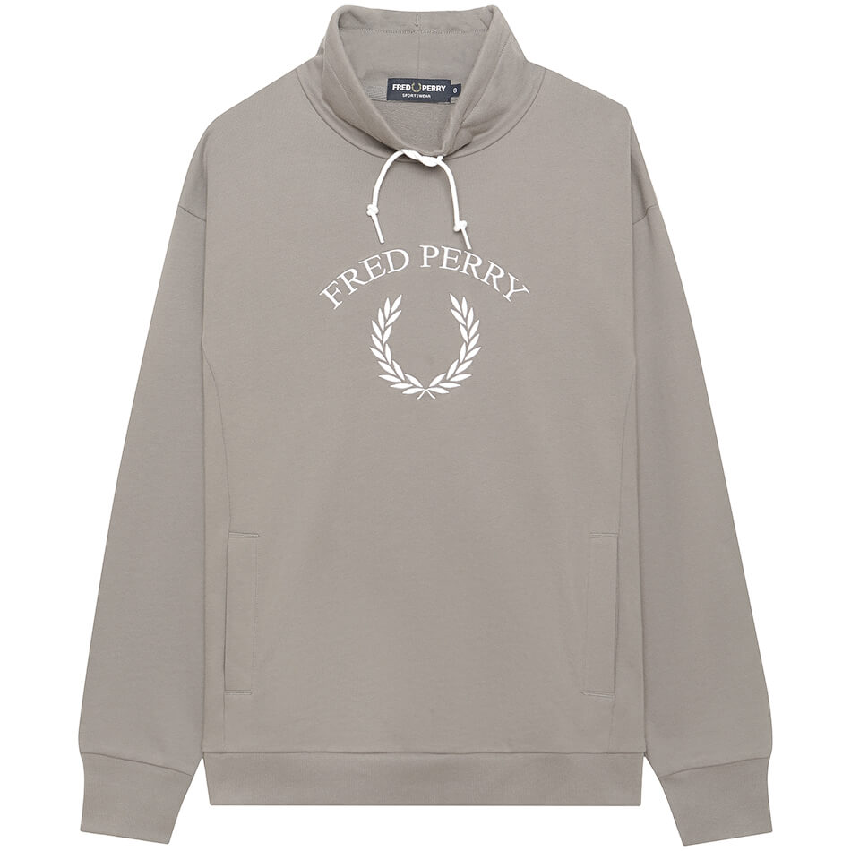 Женская толстовка Fred Perry EMB Funnel Neck (Storm)