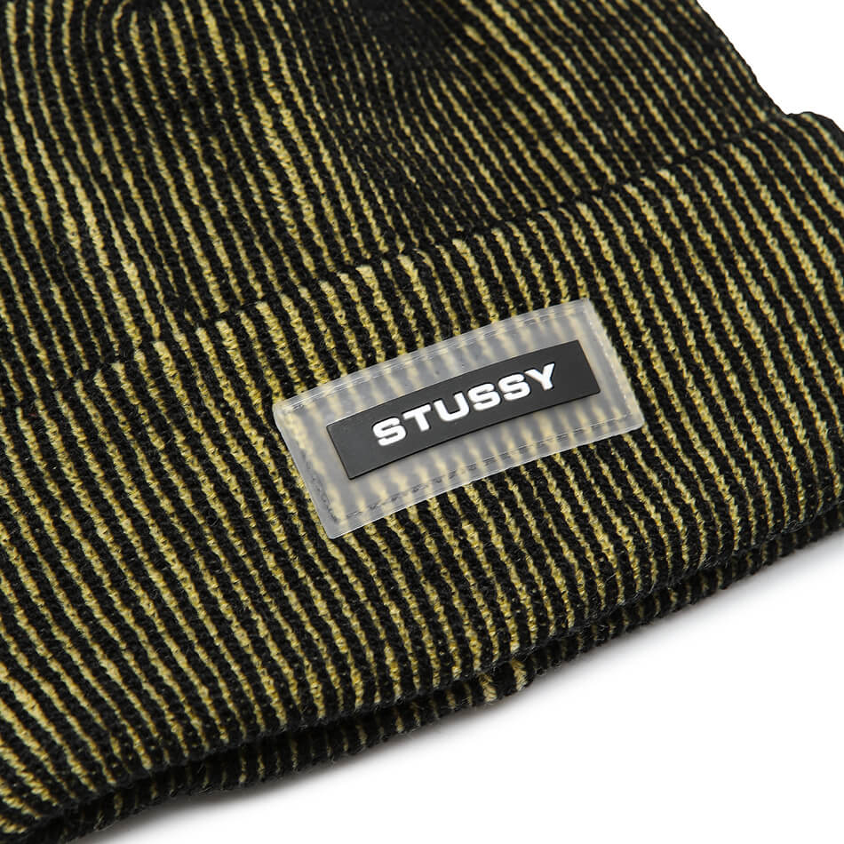 Шапка Stussy Rubber Patch Two Tone Beanie (Yellow)