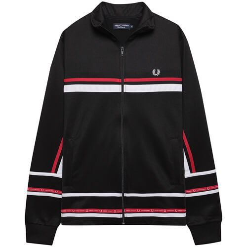 Мужская олимпийка Fred Perry Micro Tape Track (Black)