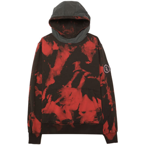 Мужская толстовка Submariner Camo Reflective Hood (Red - Black)