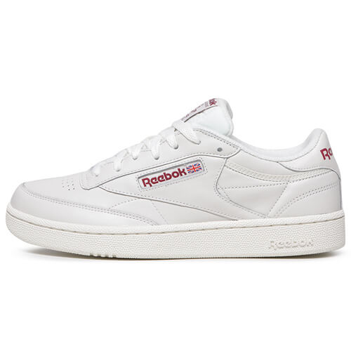 Мужские кроссовки Reebok Classic Club C 85 MU (Chalk - Meteor Red)