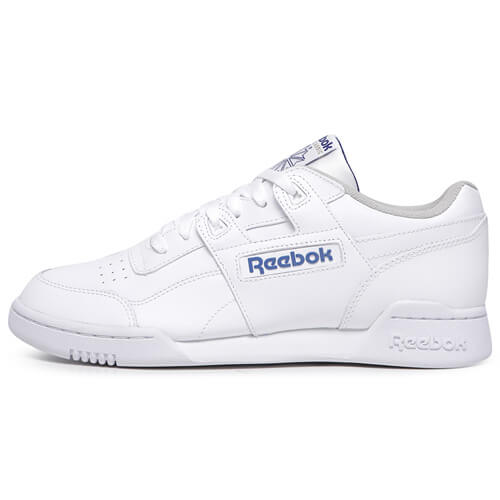 Мужские кроссовки Reebok Classic Workout Plus (White - Royal)