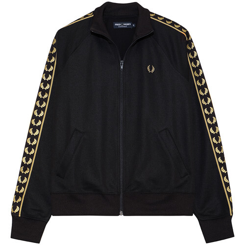 Женская олимпийка Fred Perry Taped Track (Black / Gold)