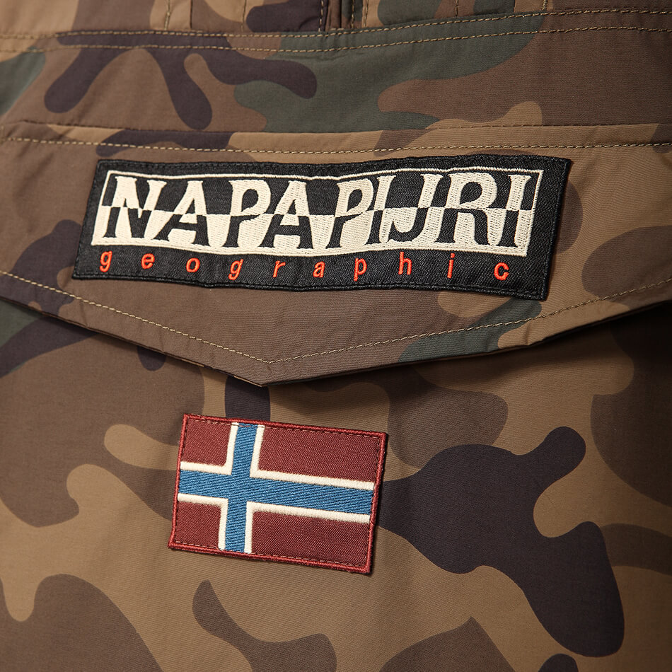 Мужской анорак Napapijri Rainforest Camou 1 (Brown Camo)