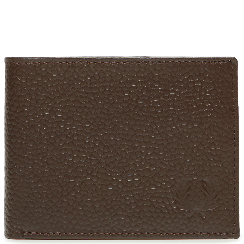 Кошелек Fred Perry Scotchgrain Leather Billford (Dark Brown)