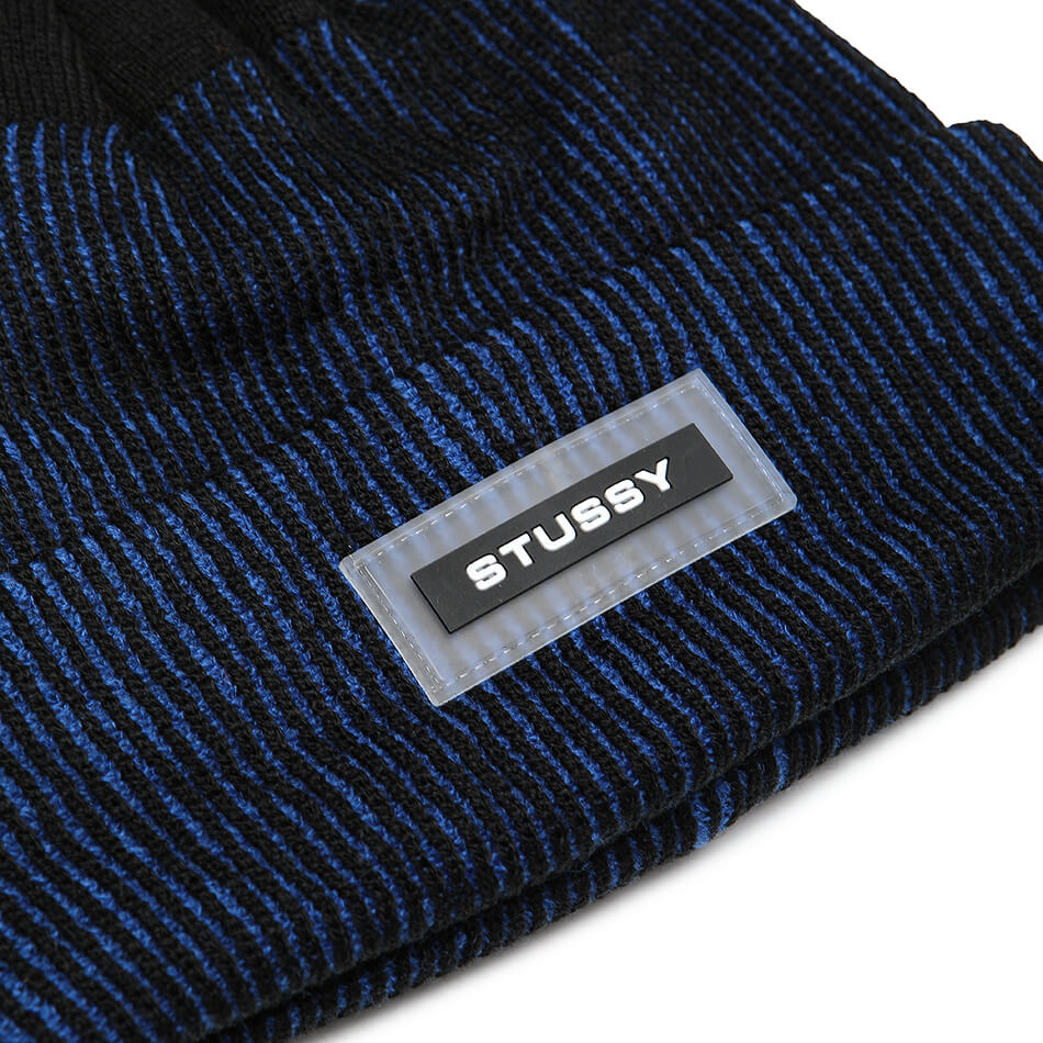 Шапка Stussy Rubber Patch Two Tone Beanie (Blue)