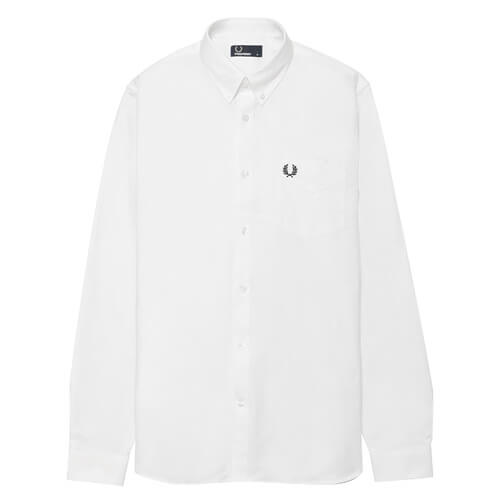 Мужская рубашка Fred Perry Oxford Classic (White)