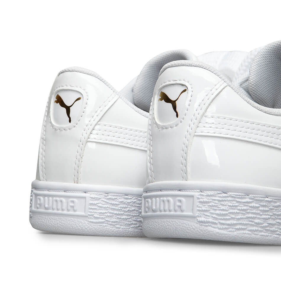 info for 18a09 75d5b Женские кроссовки Puma Basket Heart Patent (White)