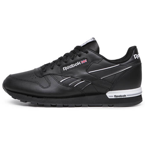 Мужские кроссовки Reebok Classic Leather MU (Black - White)