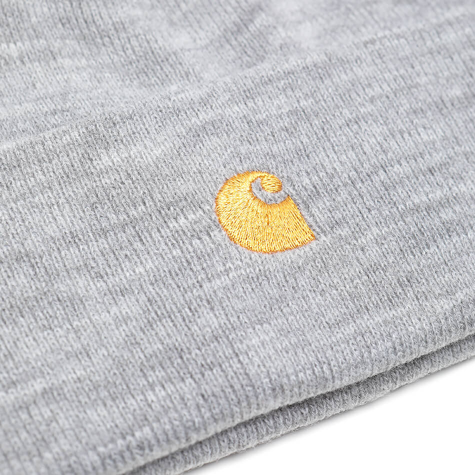 Шапка Carhartt WIP Chase Beanie (Grey Heather - Gold)
