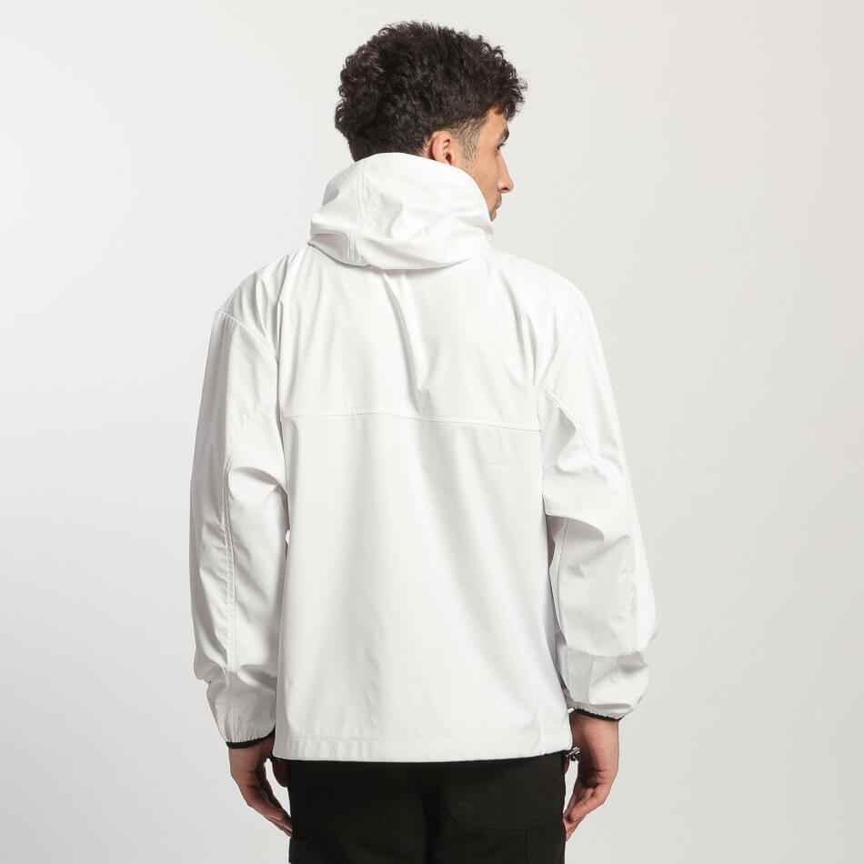 Мужская куртка Kappa Kontroll RainCoat (White - Black)