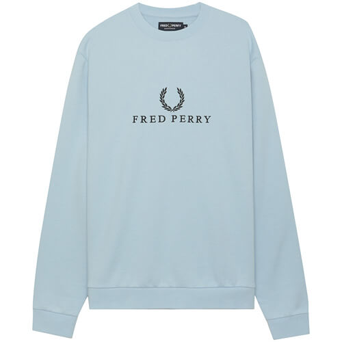 Мужская толстовка Fred Perry Embroidered (Glacier)