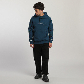Мужская толстовка Kappa Kontroll Hood Fleece (Blue Opal - White)