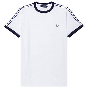 Мужская футболка Fred Perry Taped Ringer (Snow White)