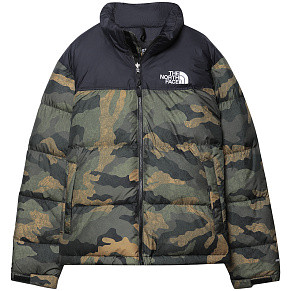 Мужская куртка The North Face 1996 Retro Nuptse (Burnt Olive - Camo Print)