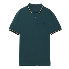 Мужское поло Fred Perry Twin Tipped (Petrol Dreams)