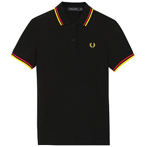 Женское поло Fred Perry Twin Tipped 1 (Black)