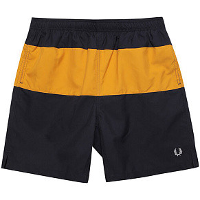 Мужские шорты Fred Perry Taped Panelled Swim (Navy)