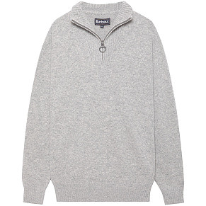 Мужской свитер Barbour Essential Lambswool Half Zip (Grey)