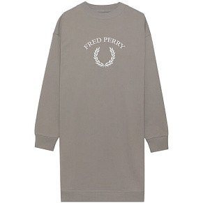 Женское платье Fred Perry Embroidered Sweatshirt (Storm)