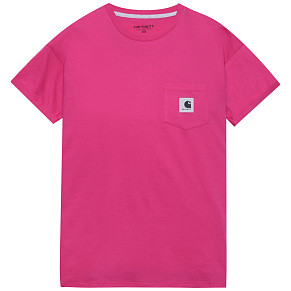 Женская футболка Carhartt WIP Carrie Pocket (Ruby Pink - Ash Heather)