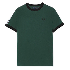 Женская футболка Fred Perry Taped Ringer (Green)