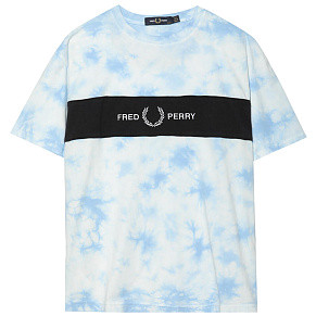 Женская футболка Fred Perry Tie-Dye Embroidery (Tie-Dye Blue)