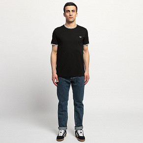 Мужская футболка Fred Perry Twin Tipped (Black)