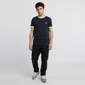Мужская футболка Fred Perry Taped Ringer (Carbon Blue)