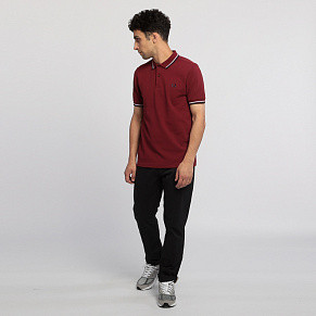 Мужское поло Fred Perry Twin Tipped (Dark Red)